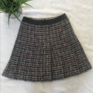 CHANEL Classic Tweed A Line Pleated Skirt